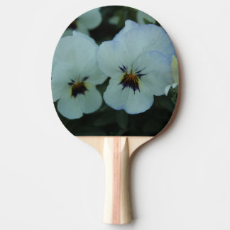 Pretty White Pansies Ping Pong Paddle