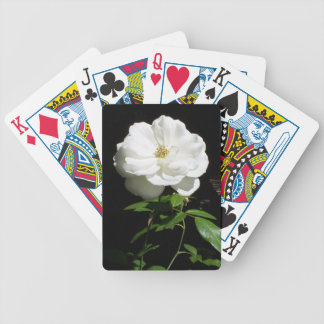 Pretty White Rose Bicycle Playing Cards