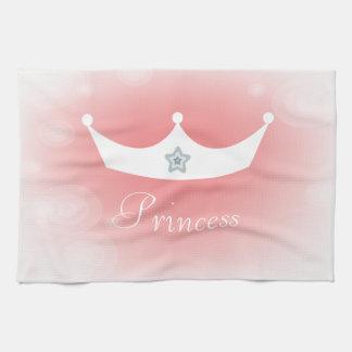 Pretty White Tiara Princess Pink Kitchen Towels
