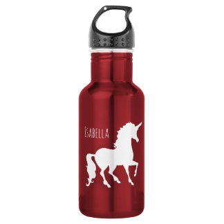 Pretty White Unicorn Silhouette Girls Beautiful 532 Ml Water Bottle