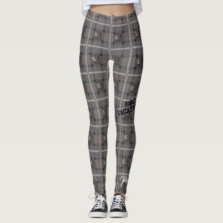 "Pretty Wicked ""Siren Plaid"" Leggings - Gray"