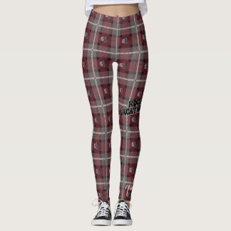 "Pretty Wicked ""Siren Plaid"" Leggings - Merlot"