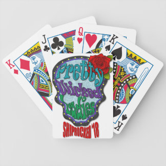 Pretty Wicked Sugar Skull Bicycle Playing Cards