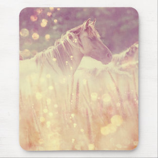 Pretty Wild Mustang Gold Sparkles Mouse Pad