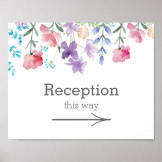 Pretty Wildflowers | Garden Wedding Reception Sign