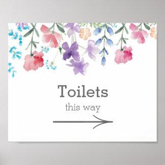 Pretty Wildflowers | Garden Wedding Toilets Sign