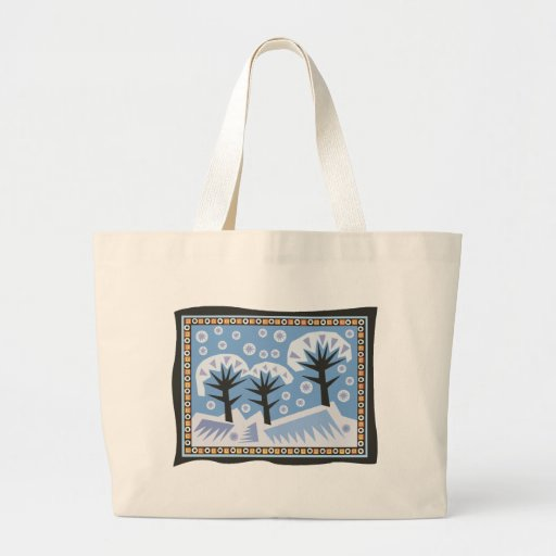 Pretty Winter Scene Jumbo Tote Bag