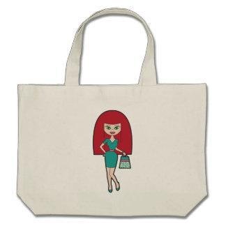 Pretty Woman with retro Handbag Bags