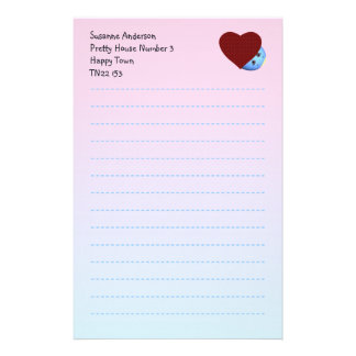 Pretty Writing Paper for Children