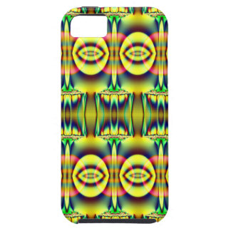 Pretty yellow blue circle abstract tough iPhone 5 case