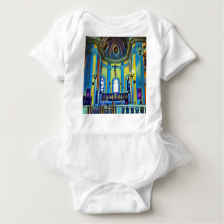 Pretty Yellow Blue Vibrant Church Altar Baby Bodysuit