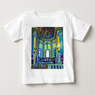 Pretty Yellow Blue Vibrant Church Altar Baby T-Shirt