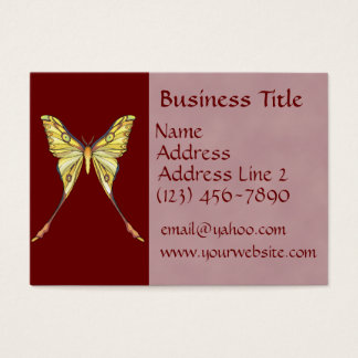 Pretty Yellow Butterfly Business Cards