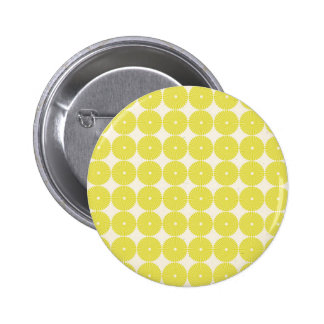 Pretty Yellow Circles Summer Citrus Textured Disks Button