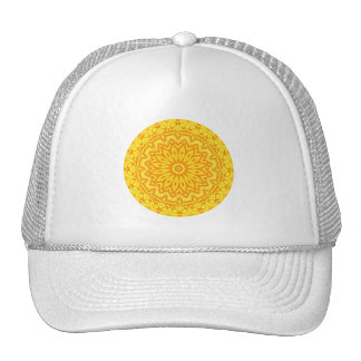 Pretty Yellow Floral Chasing the Sun Mandala Cap