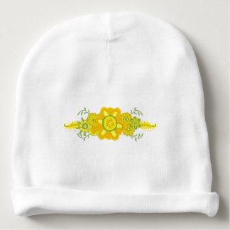 Pretty Yellow Flowers Centerpiece Baby Beanie