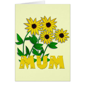 Pretty Yellow Flowers on Mothers Day Greeting Card