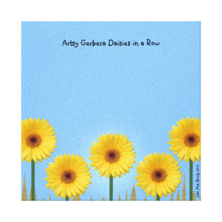 Pretty Yellow Gerbera Daisies in a Row IV Stretched Canvas Prints