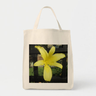 Pretty Yellow Lily Flower Tote Bags