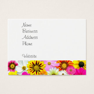 Pretty Yellow Pink White Flower Daisies Gifts Business Card