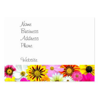 Pretty Yellow Pink White Flower Daisies Gifts Business Card Template
