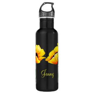 Pretty Yellow Poppies 710 Ml Water Bottle