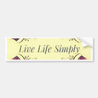 Pretty Yellow Rose Lifestyle Quote Bumper Sticker