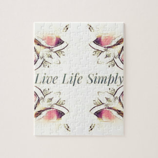 Pretty Yellow Rose Lifestyle Quote Jigsaw Puzzle