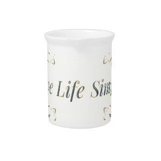 Pretty Yellow Rose Lifestyle Quote Pitcher