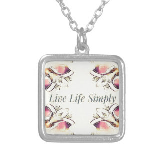 Pretty Yellow Rose Lifestyle Quote Silver Plated Necklace