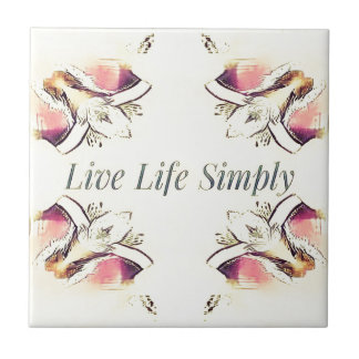 Pretty Yellow Rose Lifestyle Quote Tile