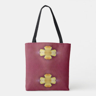 Pretty Yellow Rose  Two Optioned Patterns Tote Bag
