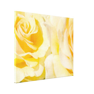 Pretty Yellow Roses Canvas Print
