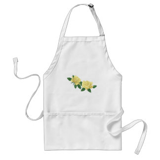Pretty Yellow Roses Flowers Floral Standard Apron