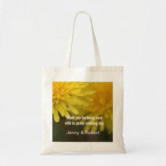 Pretty yellow wild flower dandelion wedding favor