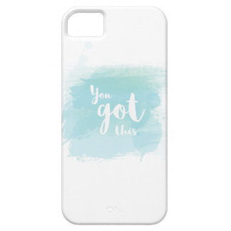 Pretty You got this blue calligraphy watercolor iPhone 5 Case