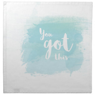 Pretty You got this blue calligraphy watercolor Napkin