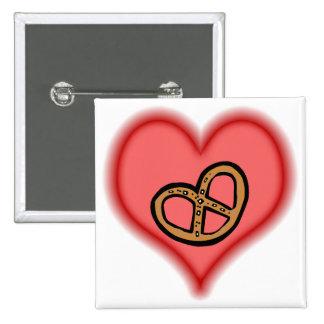 pretzel 15 cm square badge