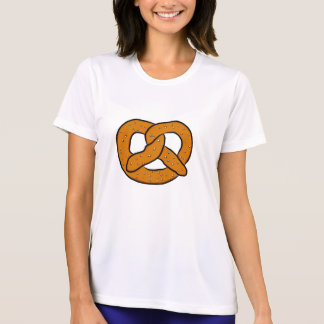 Pretzel Art Drawing Salty Pretzel Cartoon Print T-Shirt