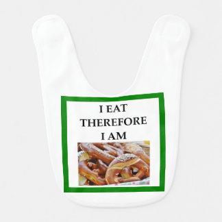 pretzel baby bibs