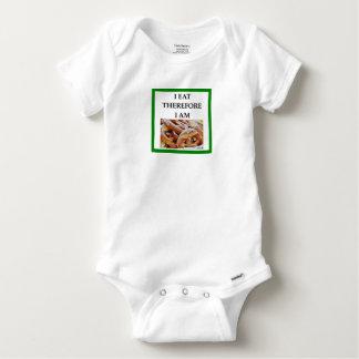 pretzel baby onesie