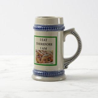pretzel beer stein