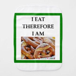 pretzel burp cloths