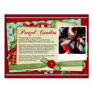 Pretzel Candy Christmas RECIPE CARD