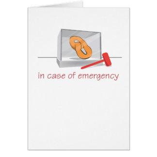 Pretzel Emergency Greeting Card