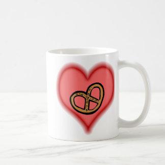 pretzel basic white mug