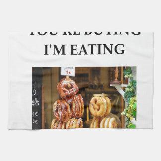 pretzel tea towel