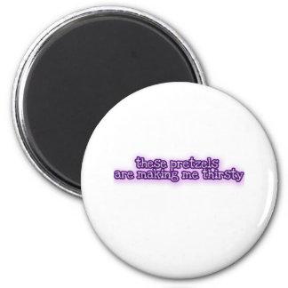 Pretzels 6 Cm Round Magnet