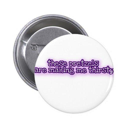 Pretzels Pinback Button