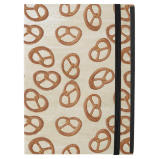 Pretzels Snack seamless pattern + your background